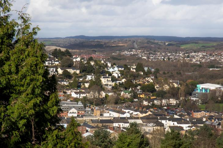 Newton Abbot from above